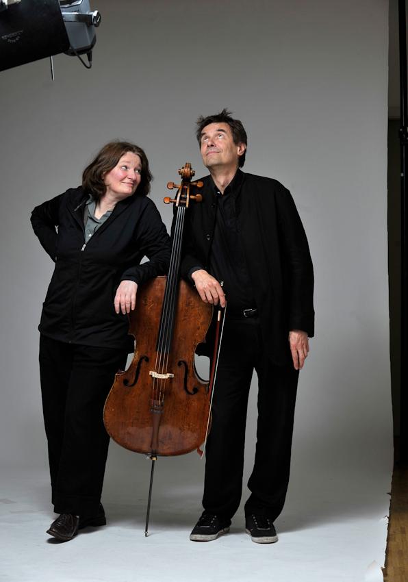 Rosa Frank und Reimund Korupp im Studio in Heidelberg am 07.05.2010.