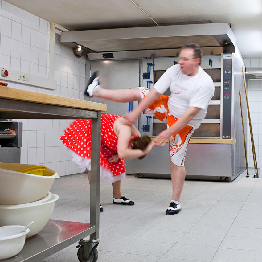 Die schnell wechselnden Tanzfiguren des Boogie-Woogie sind ein vergnüglicher Ausgleich für die Anforderungen im Bäckerhandwerk.